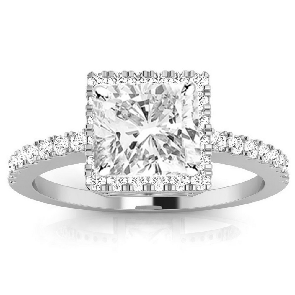 gia certified 1 carat cushion cut halo diamond engagement