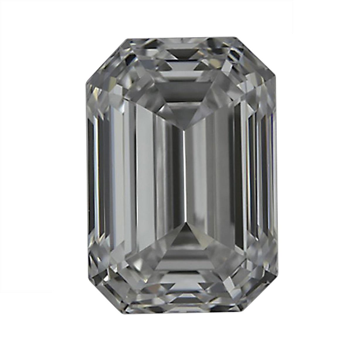 3 Carat Emerald Cut Diamond H VS1 GIA Certified Cert RING